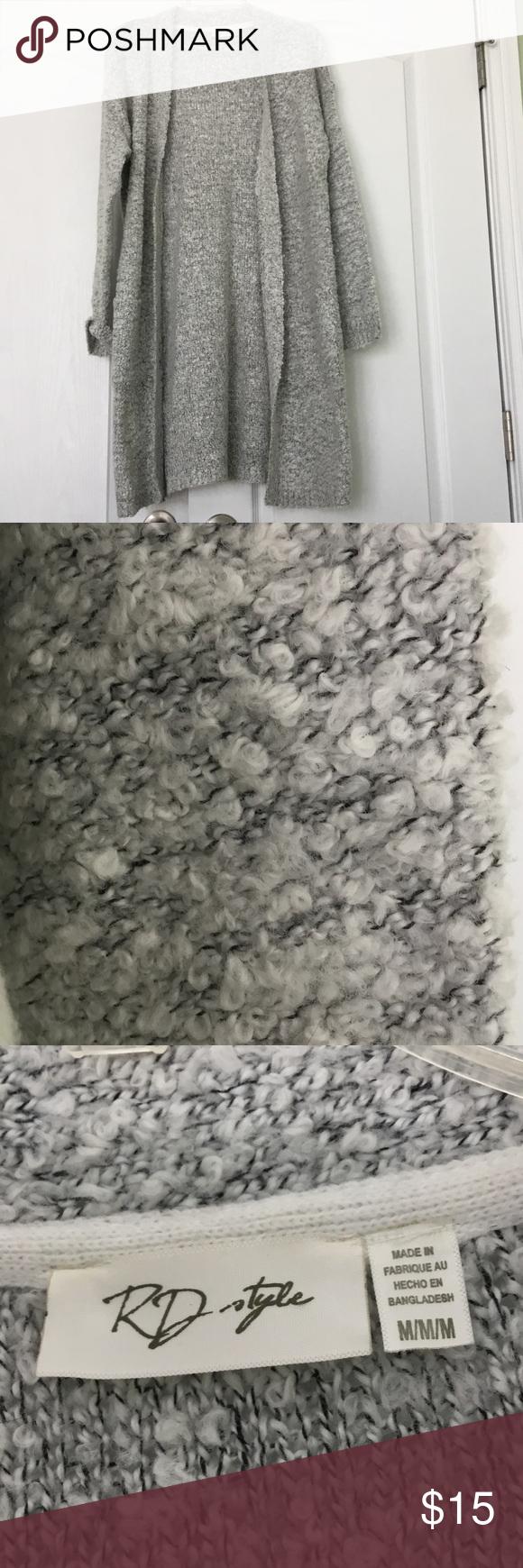 Long grey cardigan | Long grey cardigan, Long knit cardigan and ...