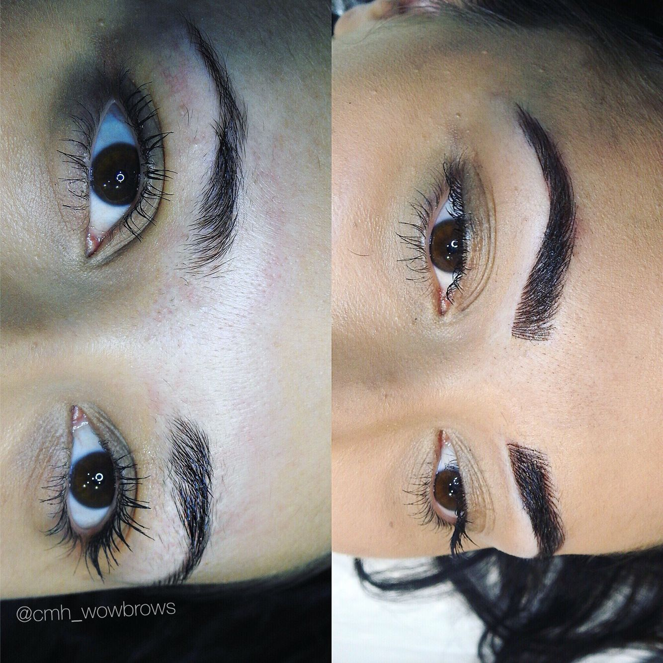 Hair stroke feather touch tattooed eyebrows cosmetic for Cosmetic eyebrow tattoo