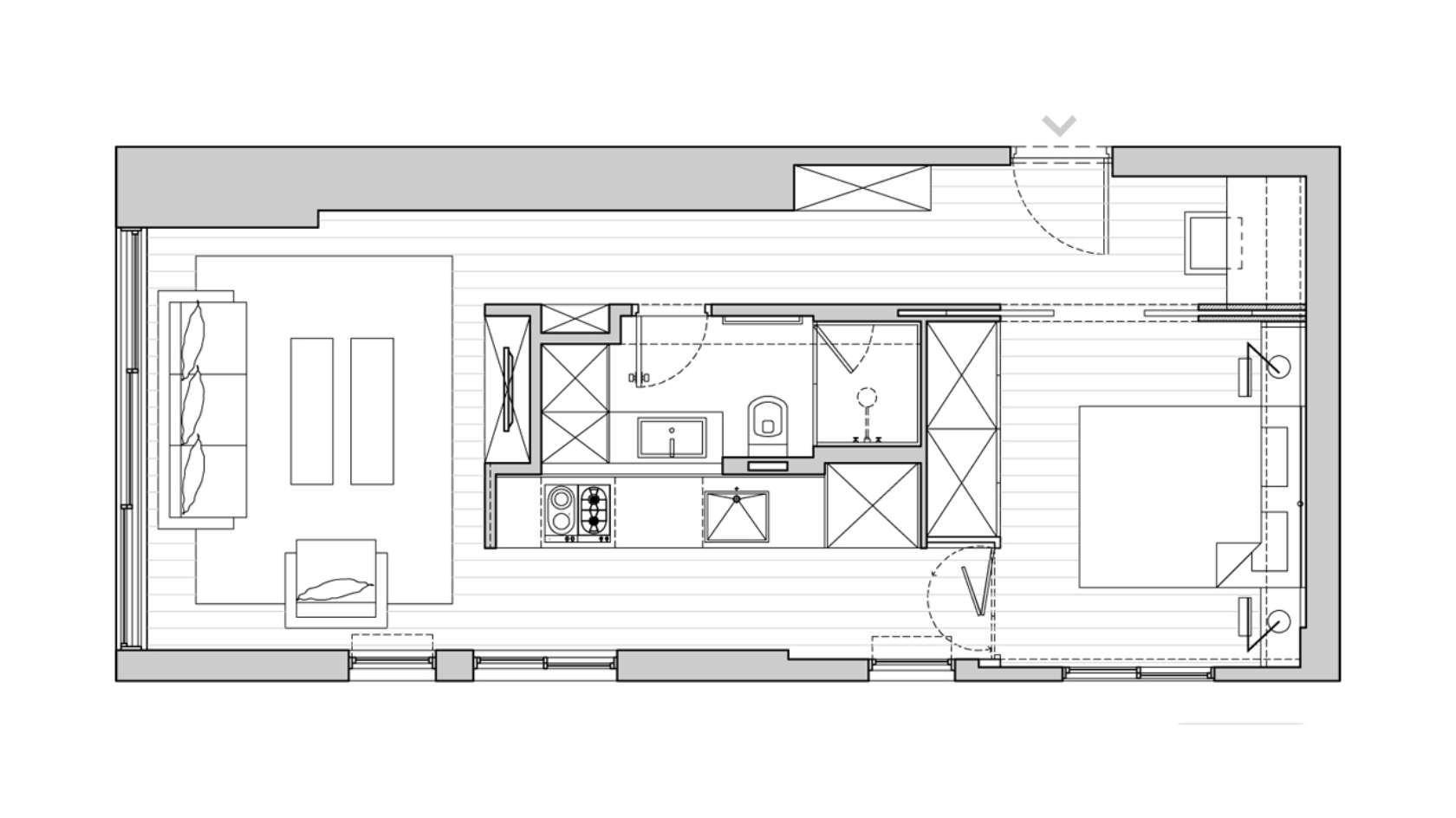40 M2 430 Sqft Apartment Small Apartment Plans Small Apartment Floor Plans Apartment Floor Plans