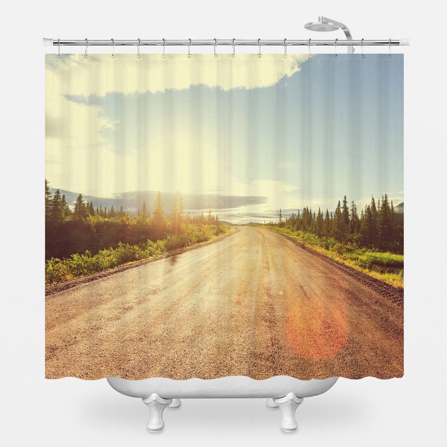 The Denali Highway Shower Curtain | Products