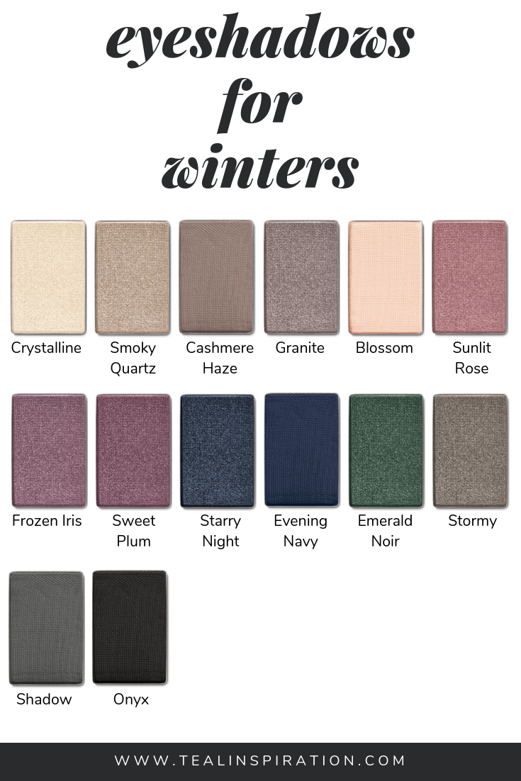 Makeup for Winters is part of Cool winter color palette, Winter eyeshadow, Winter skin tone, Winter makeup, Deep winter palette, Deep winter colors - In my opinion, wearing makeup shades that make the most of your natural coloring is the most important thing a
