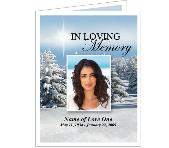 Funeral Memorial Cards Powder Funeral Program Card Templates