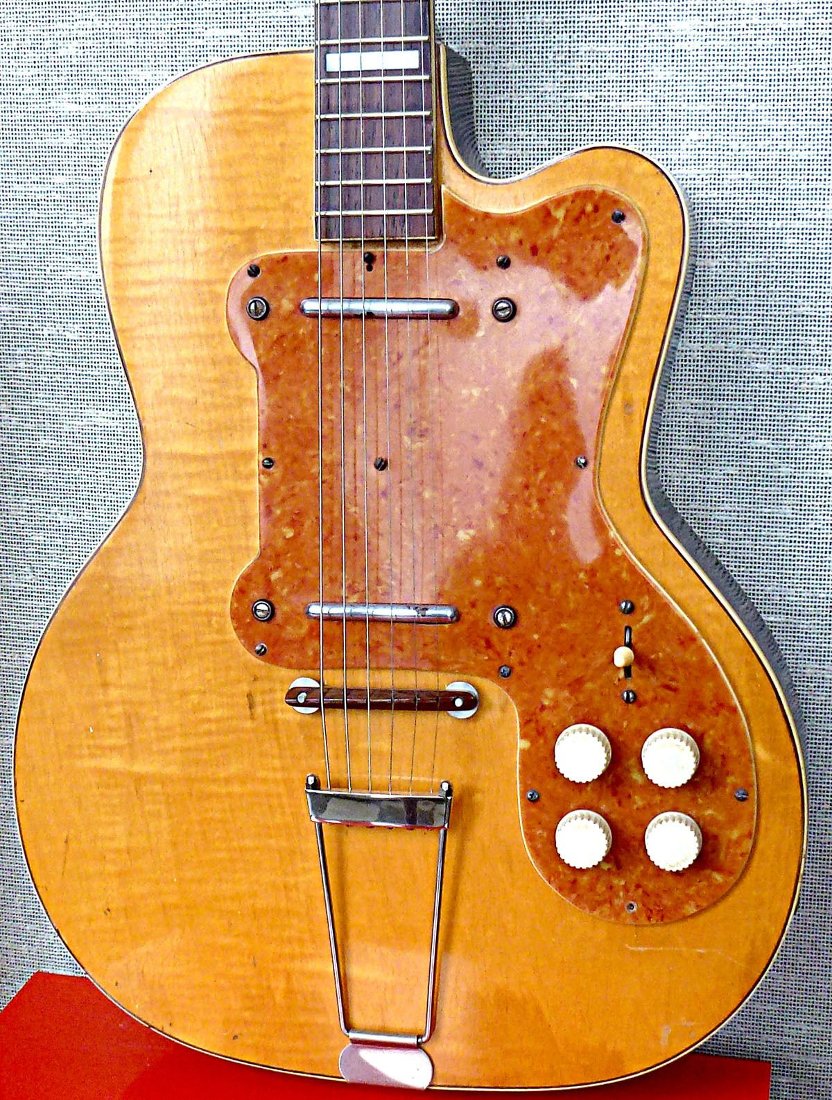 details about 1960 39 s vintage red kay solid body electric guitar single pickup in 2019 vintage. Black Bedroom Furniture Sets. Home Design Ideas