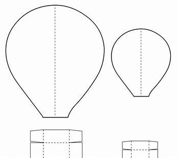 Bildergebnis für hot air balloon template | Babyparty | Pinterest ...