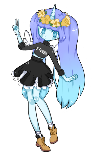 4 Unicorn Girl Adopt Closed By Picturessi Cute Drawings Cute Art Cute Chibi