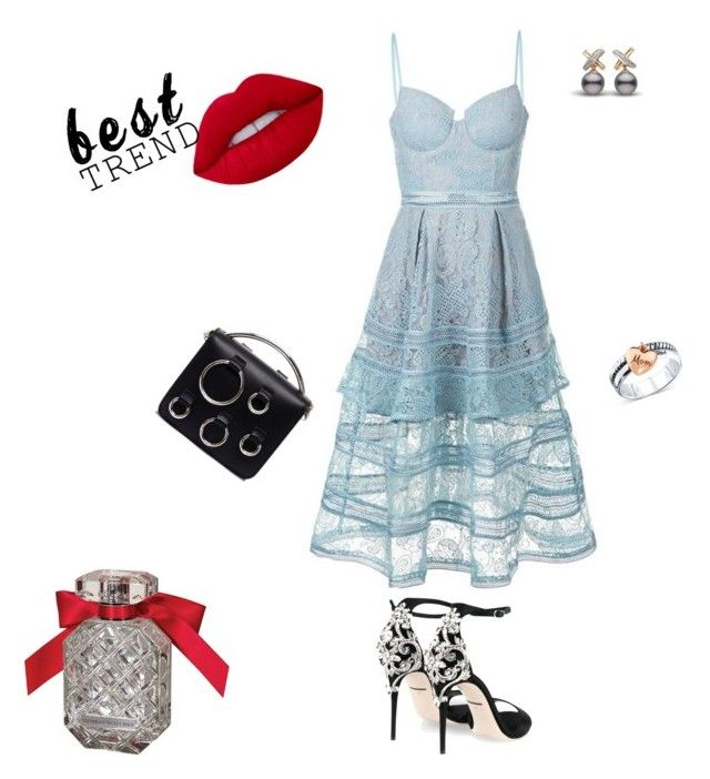 """""""Untitled #1220"""" by giselaturca on Polyvore featuring self-portrait, Dolce&Gabbana, MSGM, Unwritten and Victoria's Secret"""