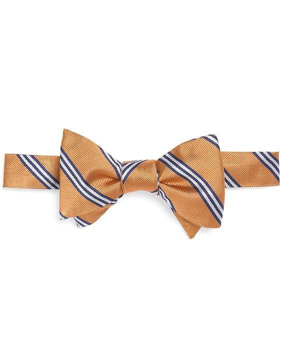 Mini BB#1 Stripe Bow Tie Gold