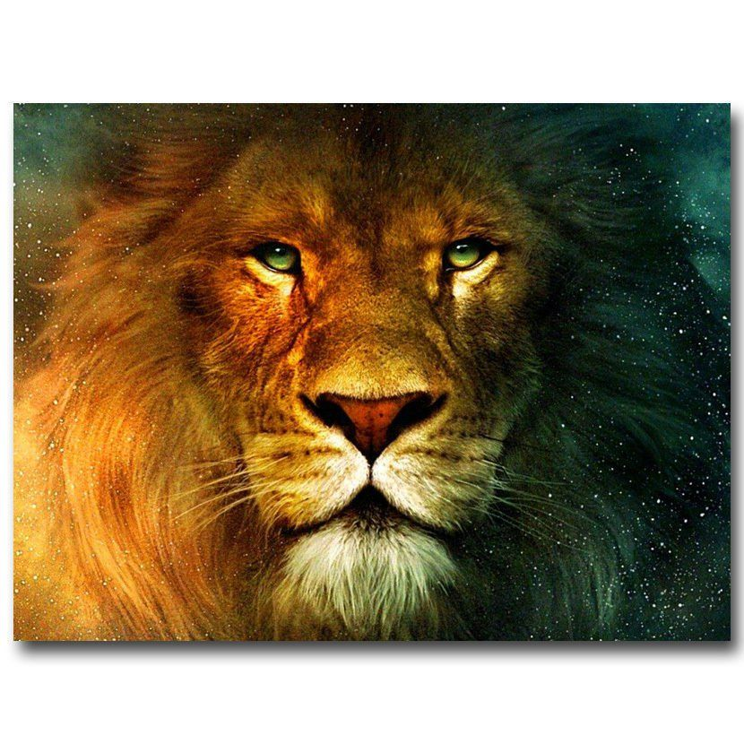 Chronicles Of Narnia Aslan Lion Poster Home Decor 32x24 in