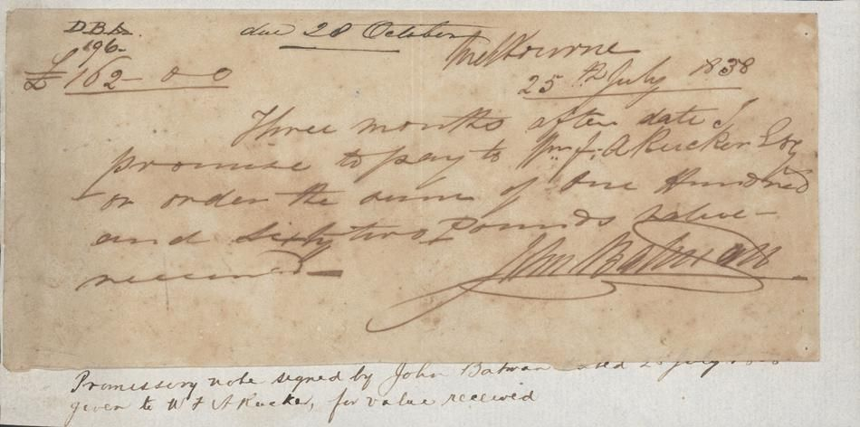 Victorian Promissory Note 1838 Handwritten Ibsenu0027s Doll House - promissory note parties