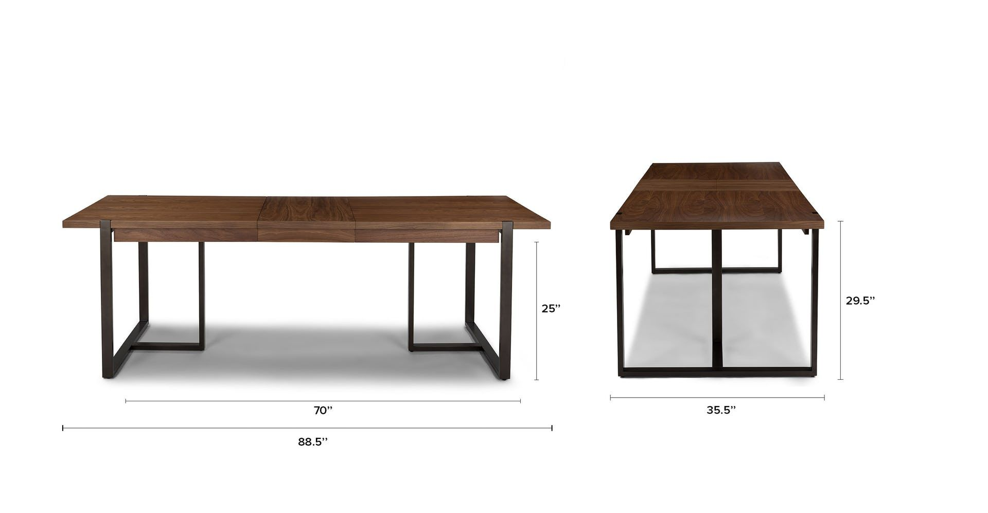 Oscuro Walnut Extendable Dining Table Dining Table Extendable