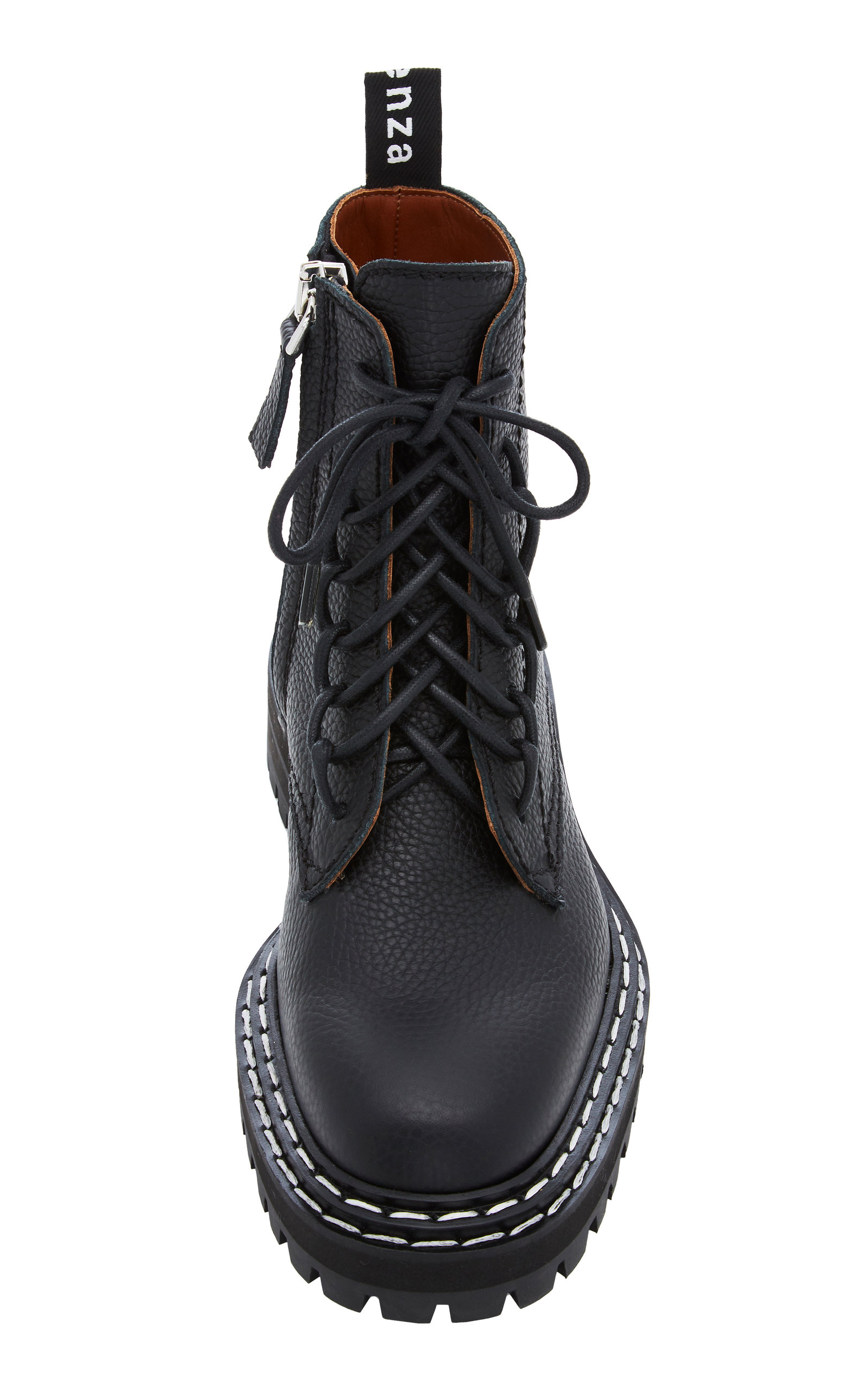 b9ca353debf Proenza Schouler Leather Contrast-Stitched Combat Boots in 2019 ...