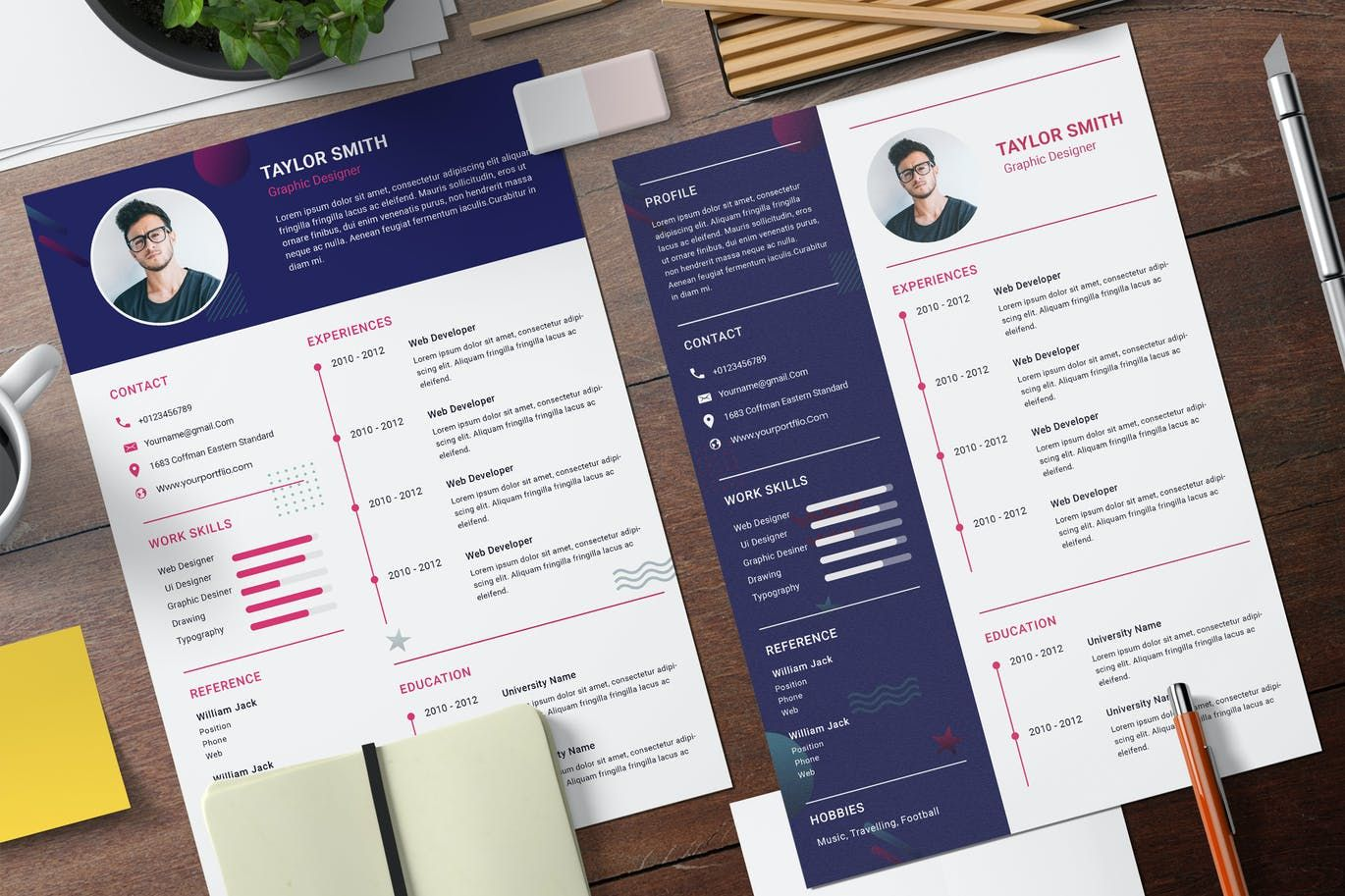 Cv professional resume template psd in 2020 resume