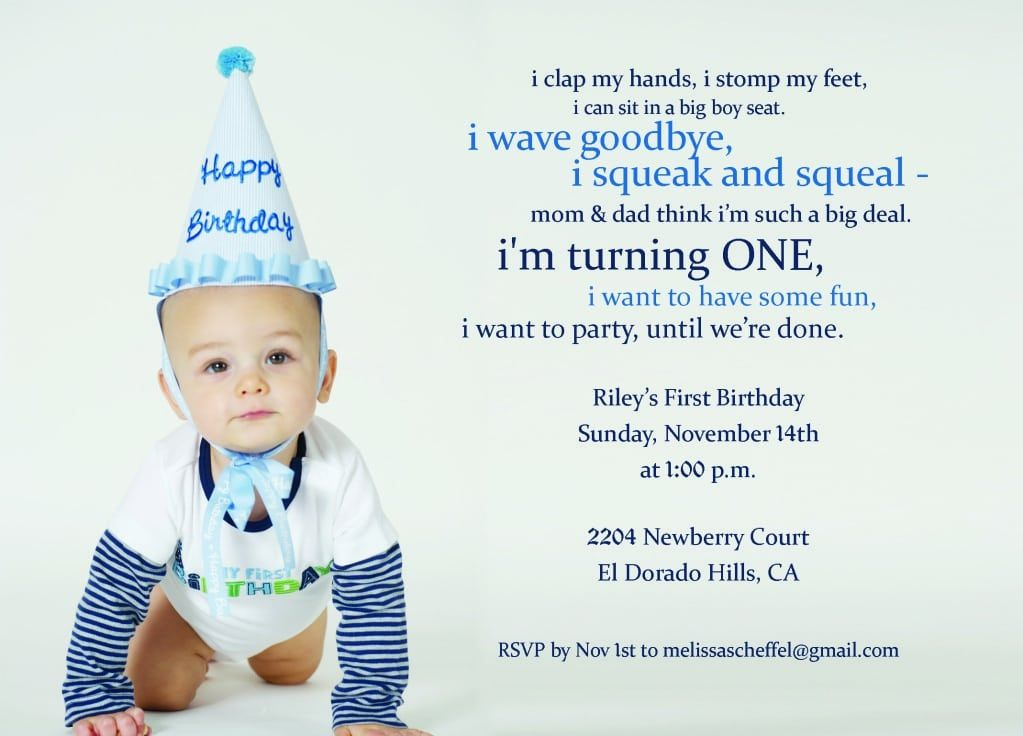 First Birthday Sayings For Invitations First Birthday