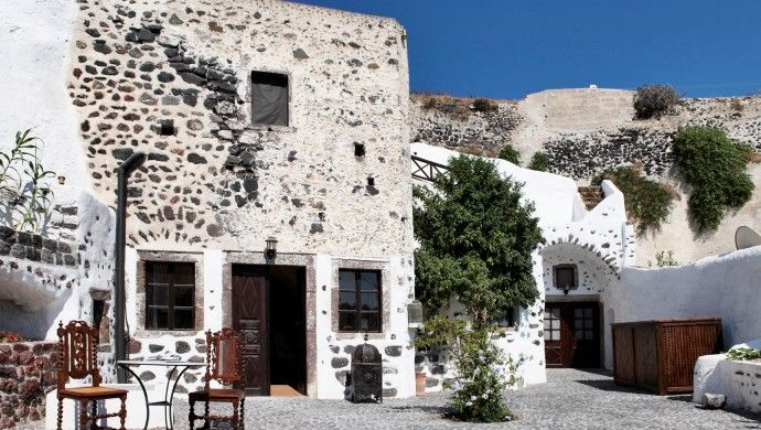 Villas U0026 Mansions Of Santorini: Afroditi House Is Cut From Soft Pumice Stone  From The