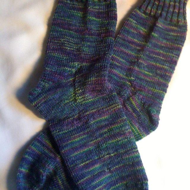 Hand-knit socks knitted toe up, Magic Loop method (one ...