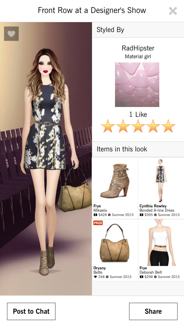 Front Row At A Designer S Show Covet Fashion Game 5 Stars Radhipster Fashion Fashion Outfits Covet Fashion