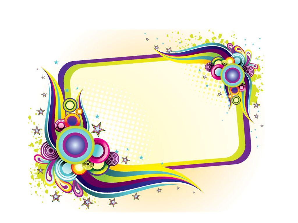 Colorful frame design PPT Backgrounds   Label Templates ...