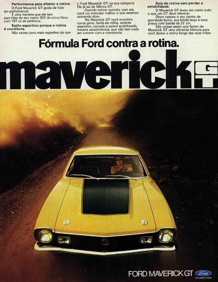 PROPAGANDAS NACIONAIS | classic cars | Pinterest | Ford maverick ...