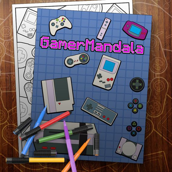 Gamer Mandala Coloring Book with Nintendo, Sony Playstation and Xbox - best of coloring page xbox controller