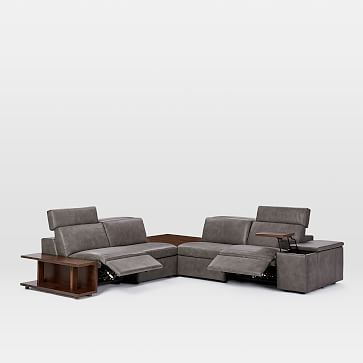 Brilliant Enzo Reclining 4 Seater Sectional With Corner Table Set 22 Machost Co Dining Chair Design Ideas Machostcouk