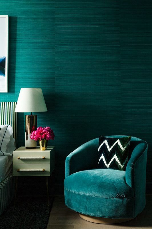 Glamorous And Exciting Green Interior Design Inspiration. See More  Mid Century Or Modern Pieces