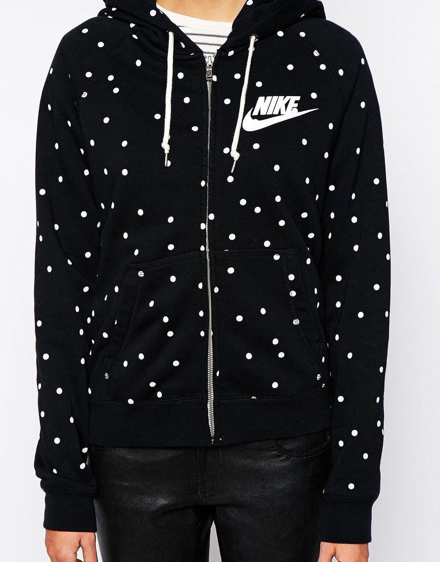 Image 3 of Nike Polka Dot Zip Through Hoodie 122e81985