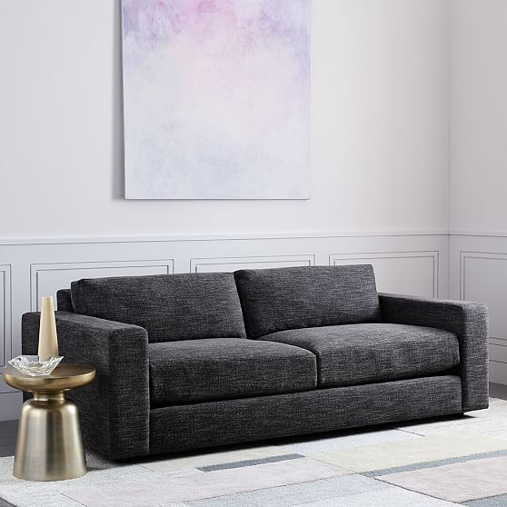 2 5 Seater Sofa Down Pebble Weave Olive, Down Feather Sleeper Sofa