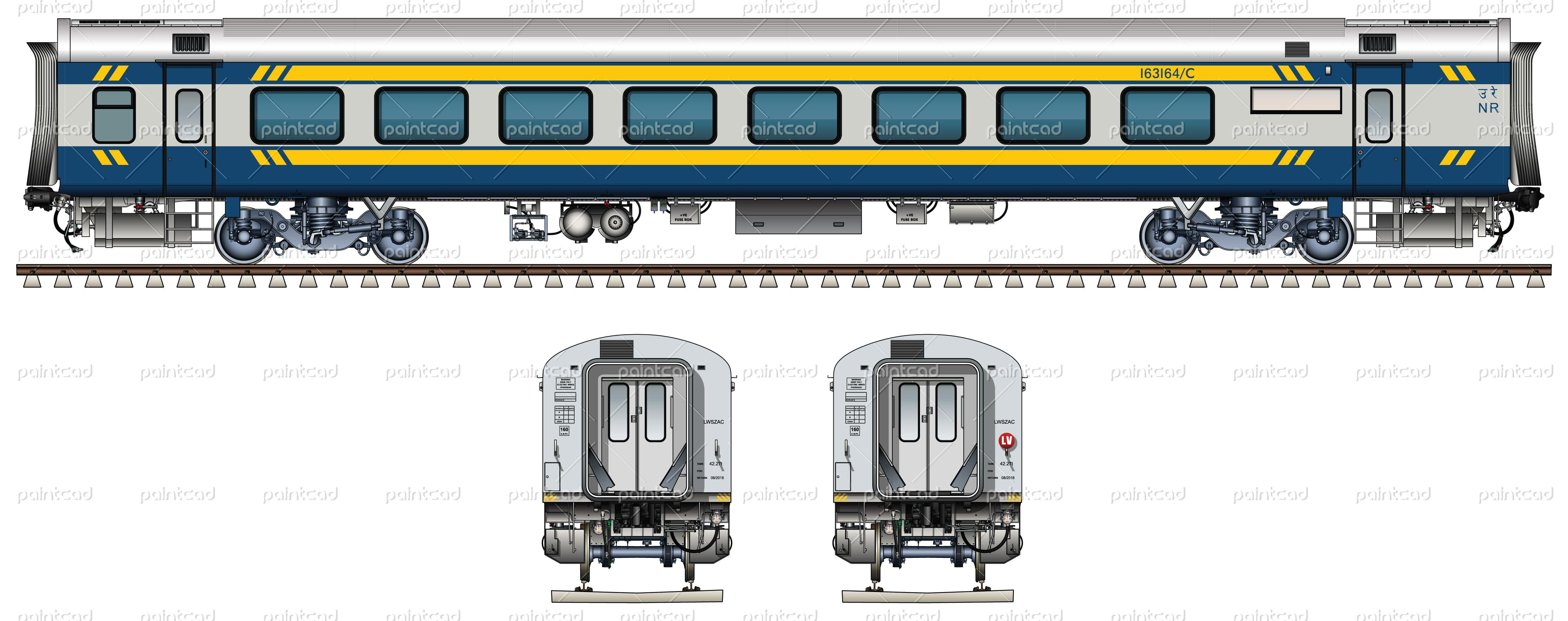 luxury first class ac chair car in livery of tejas express indian