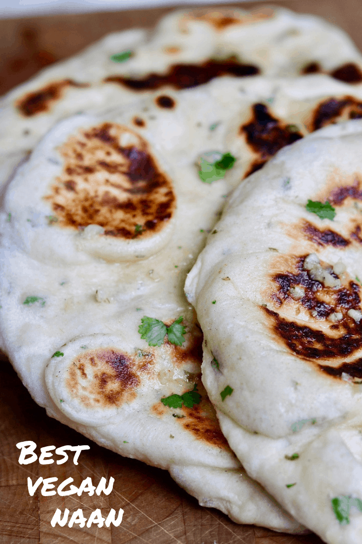 This Homemade Easy Vegan Naan Bread Is Soft Pillowy And Airy With The Perfect Chew Just Like Your Favourite In Vegan Naan Easy Vegan Recipes With Naan Bread