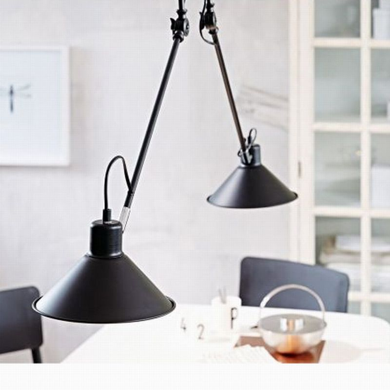 Find More Ceiling Lights Information About Black Swing Adjustable Arm 2 Heads Modern Lamp Lighting For Dining RoomKitchen