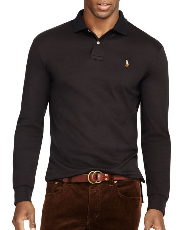 a6440aaba3bd1 Polo Ralph Lauren Long-Sleeved Pima Soft-Touch Polo Shirt - Regular ...