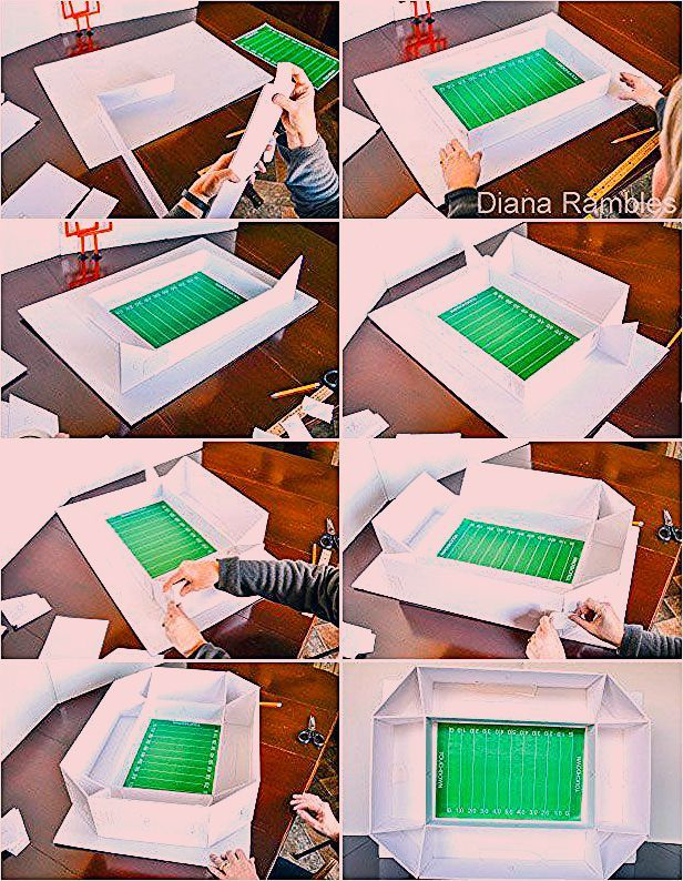Photo of DIY Football Snack Stadium with Free Party Decorations