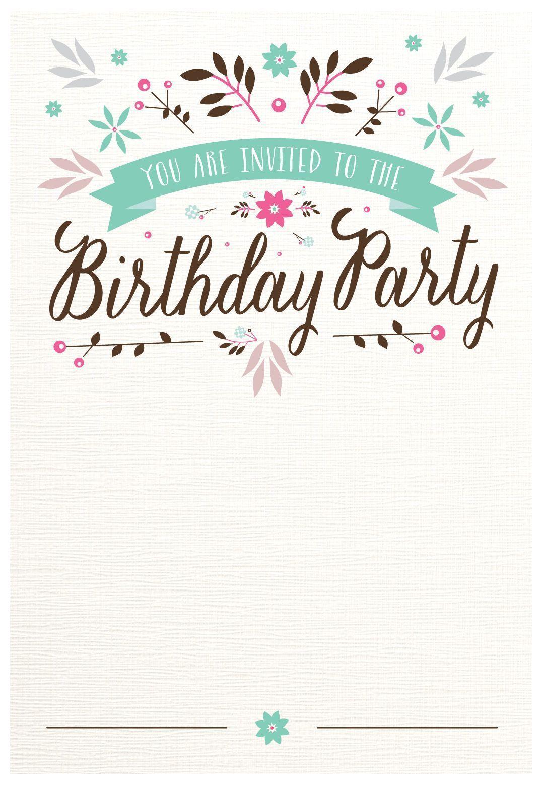 Kostenlose Geburtstagseinladungen Zum Ausdrucken