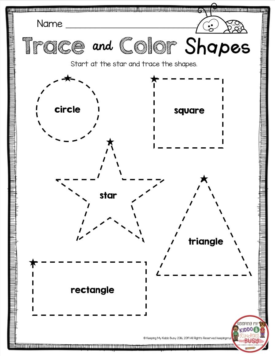 Tracing Shapes Learning 2d Shape Names Kindergarten Beginning Of The Year M Shape Worksheets For Preschool Learning Worksheets Tracing Worksheets Preschool [ 1160 x 896 Pixel ]