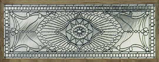 Custom leaded glass Victorian style transom window