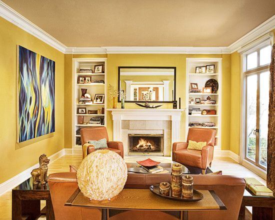 Living Room Bookshelves Fireplace Design, Pictures, Remodel, Decor ...