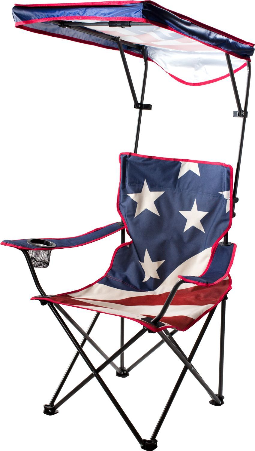 Quik Shade US Flag Adjustable Canopy Folding Chair, Team