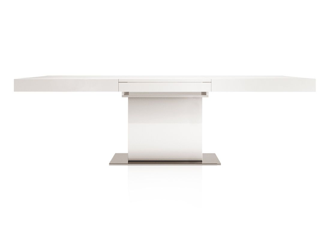 Palerma Extendable Modern Dining Table White