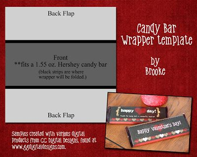 Easy Valentine Ideas and free templates | Candy bar wrappers, Bar ...