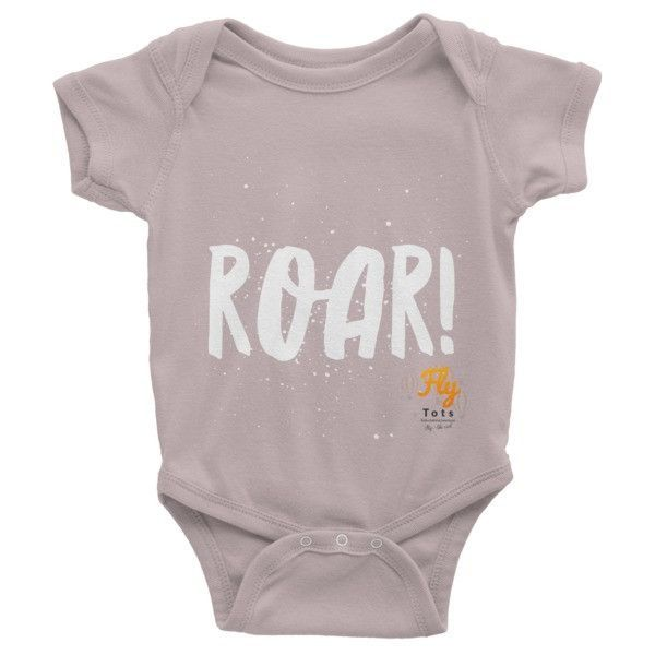 Roar! Fly Tots Infant organic short sleeve one-piece