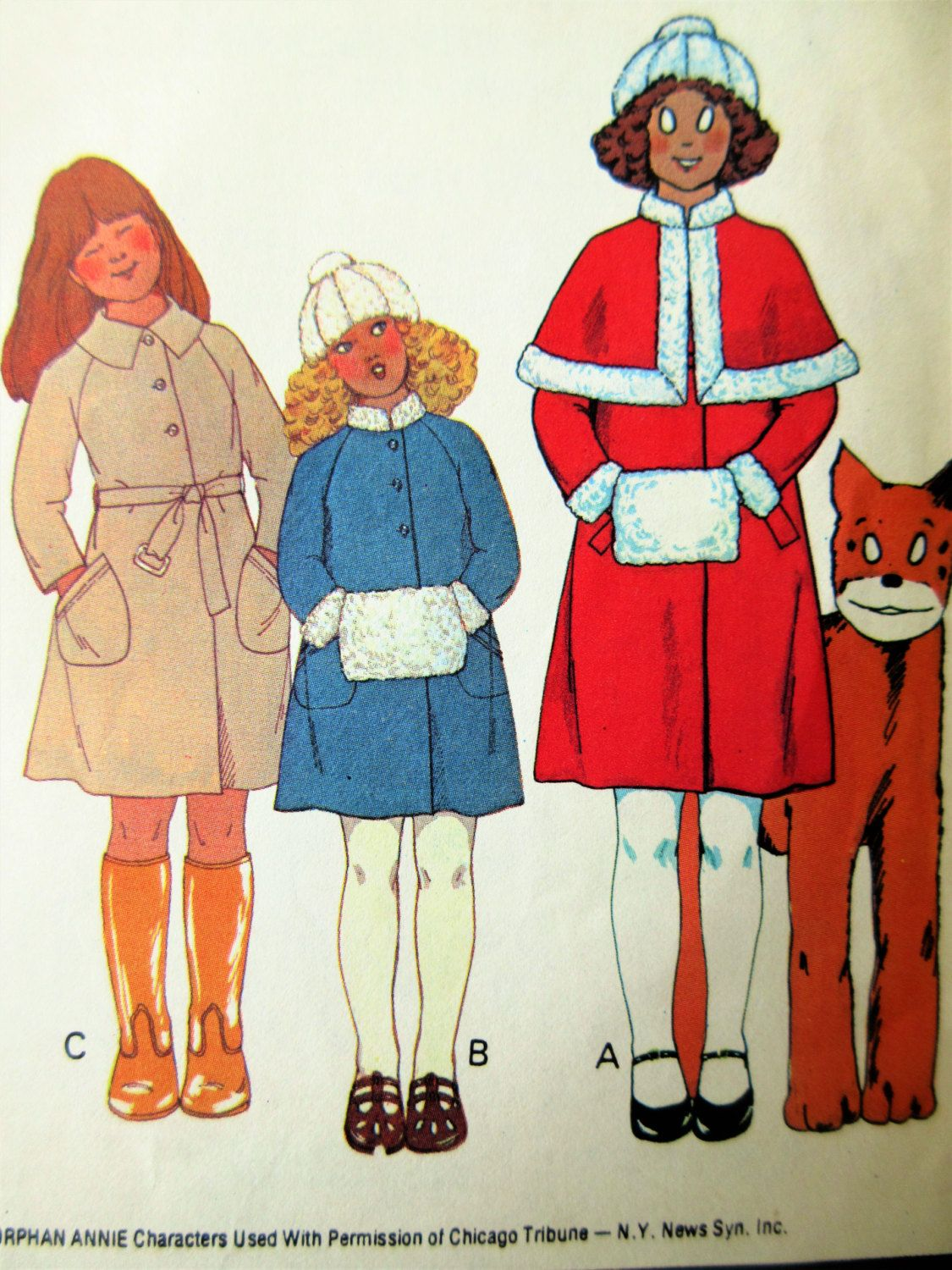 Vintage McCall\'s 5870 Sewing Pattern, Girls\' Coat Pattern, Capelet ...