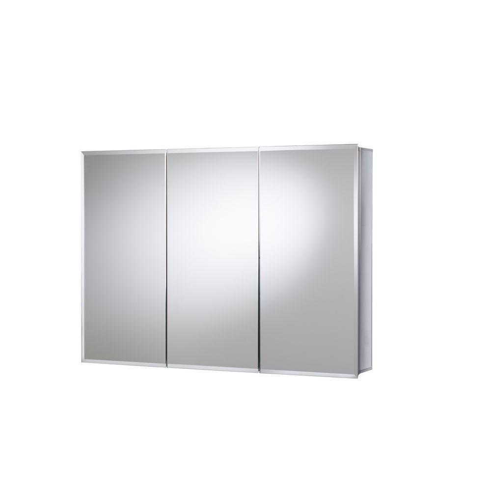 Croydex 36 In W X 26 In H X 5 1 4 In D Frameless Aluminum