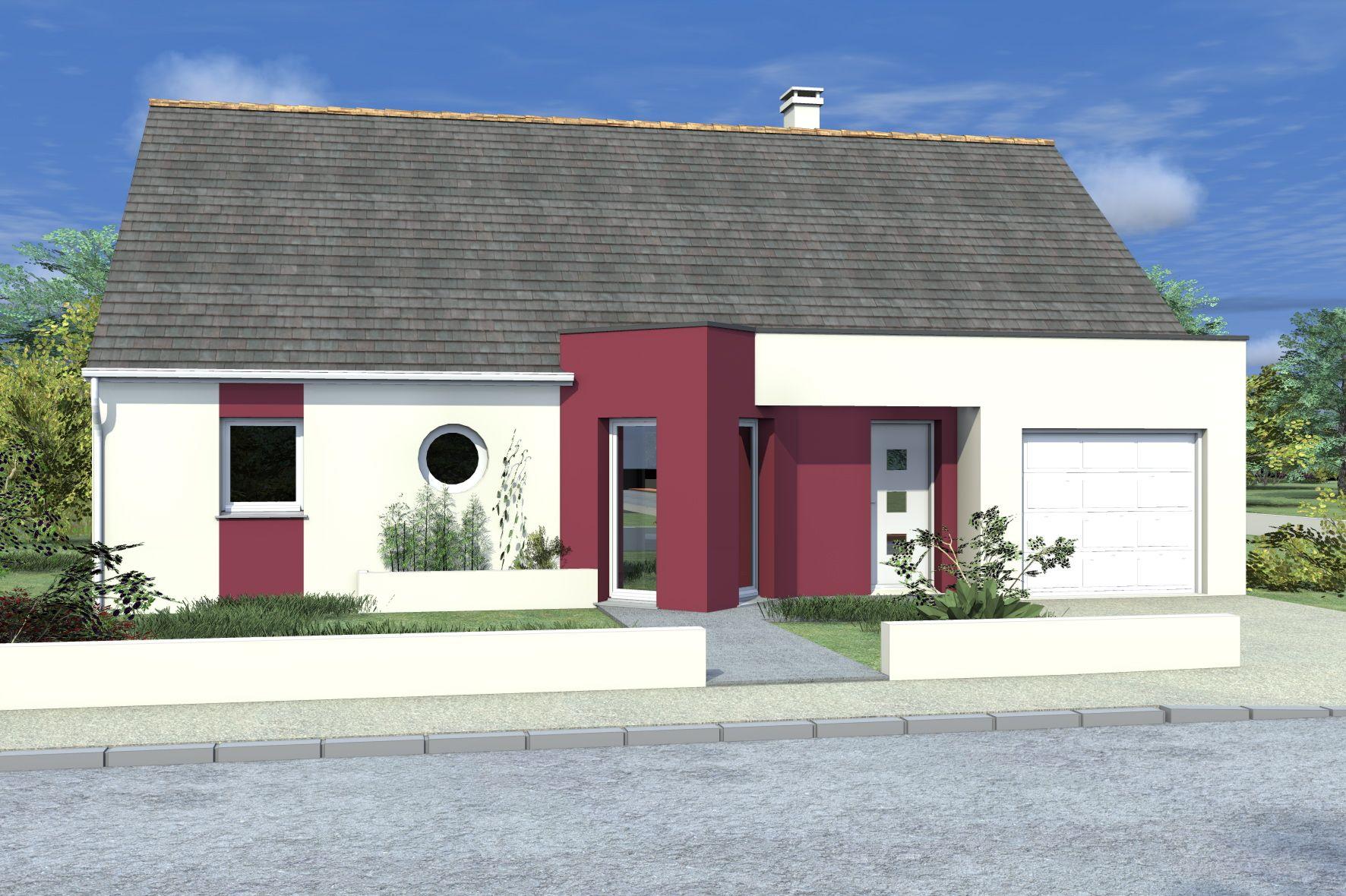 facade maison plain pied3 3 chambres pied quartz logivelay traditionnelle confort et fonctionnalit pour cette maison de plain pied la faade en deux  couleurs rsolument