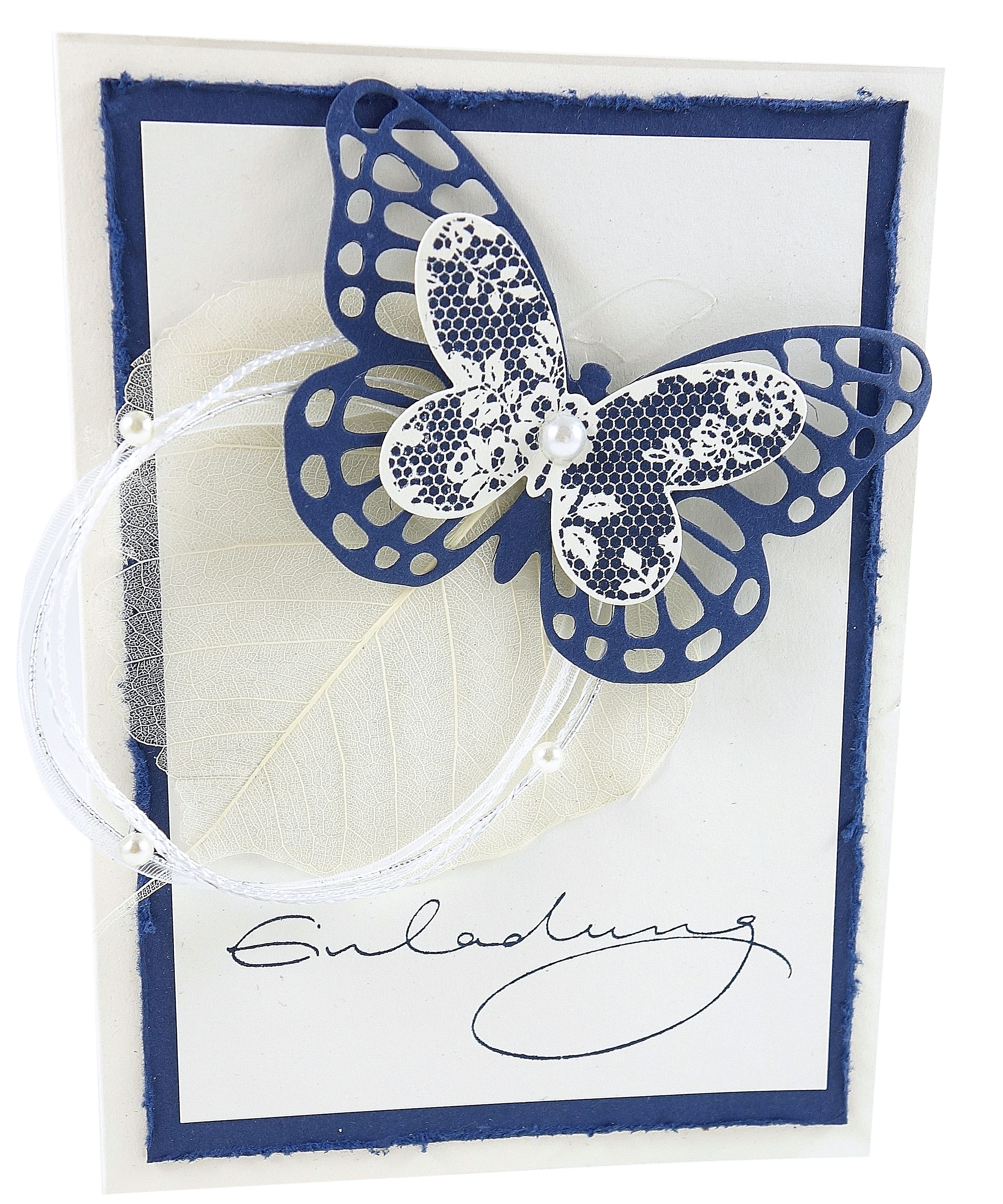 Geburtstagseinladung blue butterfly geburtstagseinladung birthday invitation invitation einladung papercraft stationary papeterie butterfly