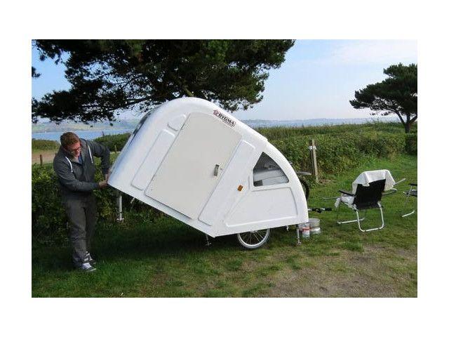 une mini caravane pour v lo lectrique public object pinterest mini caravane v lo. Black Bedroom Furniture Sets. Home Design Ideas