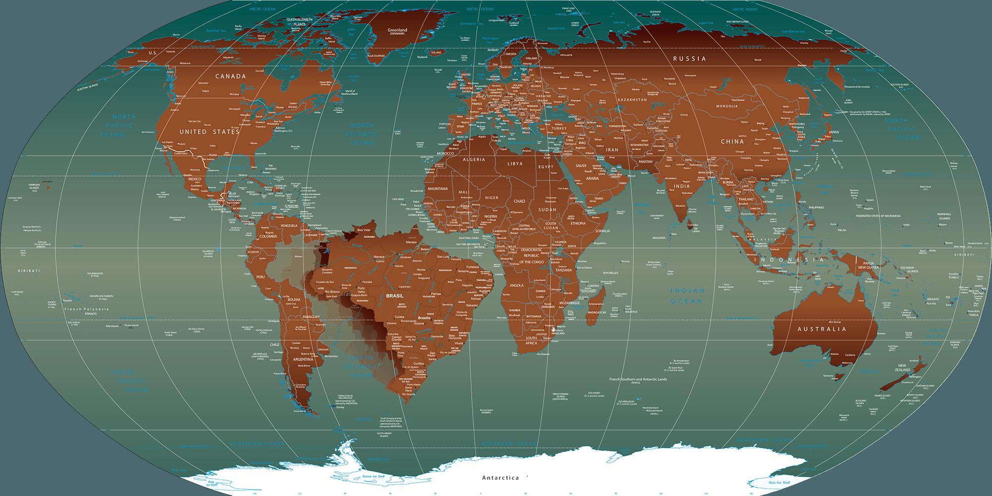 Papel de parede mapa mundi pol tico modelos de mapas - Papel pared mapa mundi ...