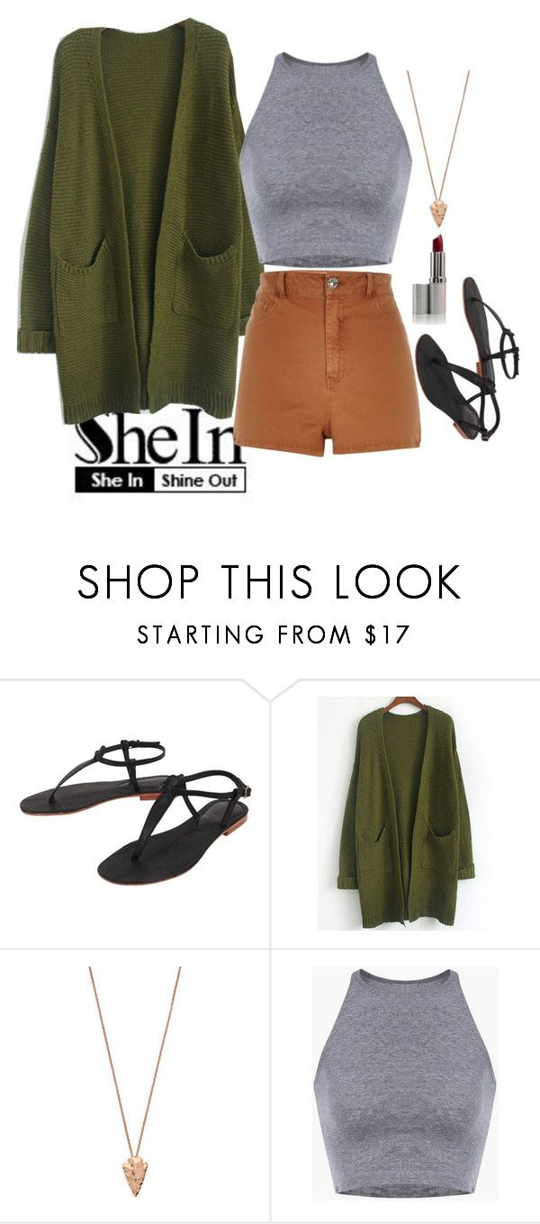 """Shein Army green coat"" by clairejagus on Polyvore featuring Cocobelle, Pamela Love and River Island"