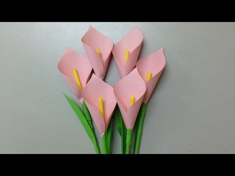 How To Make Calla Lily Paper Flower Easy Origami Flower Origami