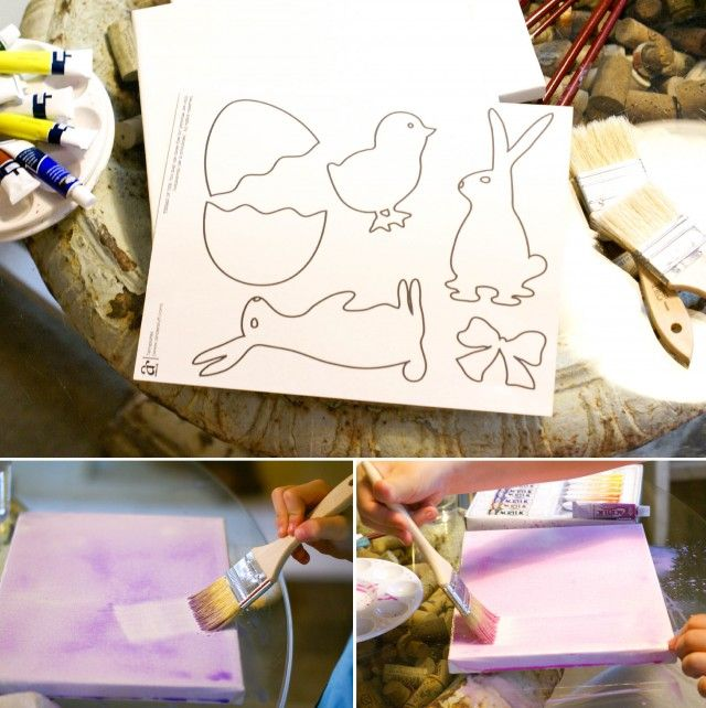 easter template silhouette canvas painting supplies easter