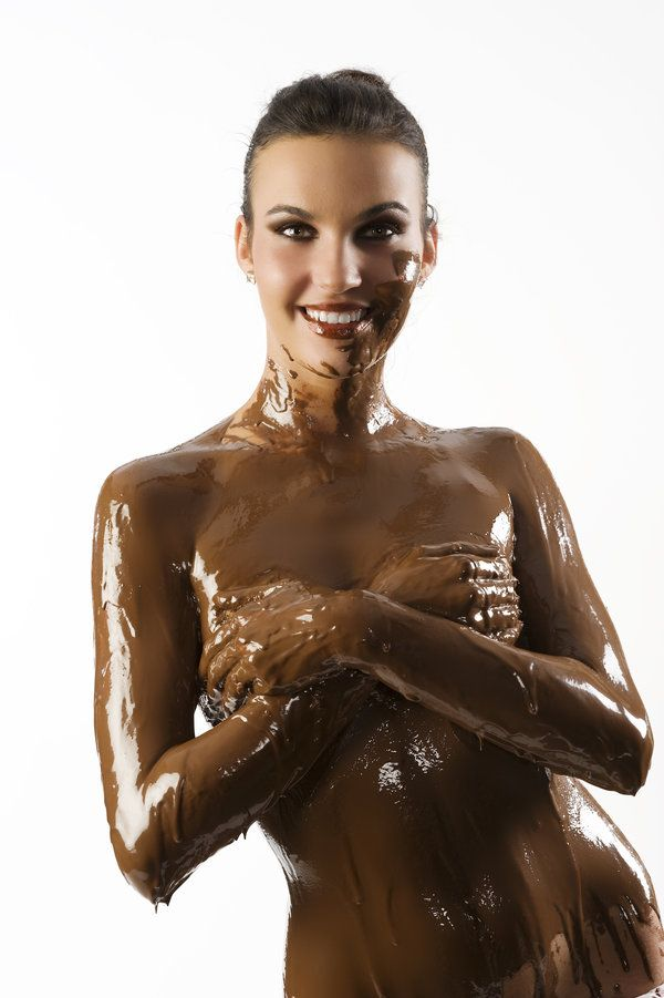 Covered with chocolate naked women